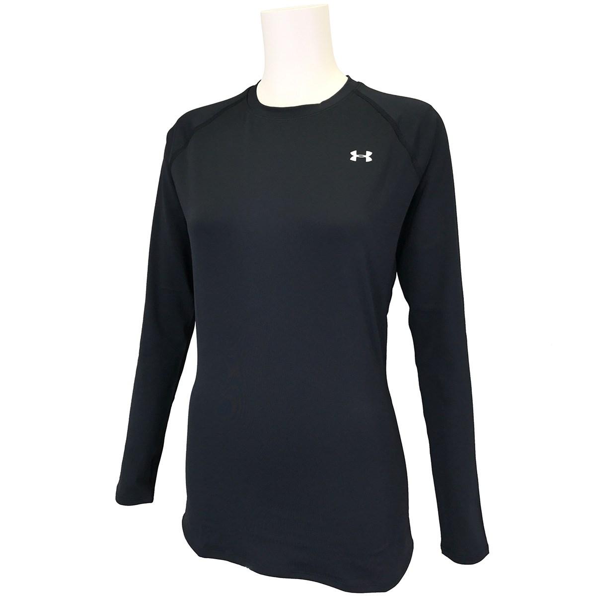 [2020年秋冬モデル] アンダーアーマー UNDER ARMOUR UA HGコンプレッション 長袖クルーネックアンダーシャツ Black レディース ゴルフウェア
