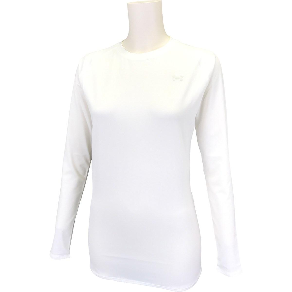アンダーアーマー Under Armour UA HGコンプレッション 長袖クルーネックアンダーシャツ SM White レディス