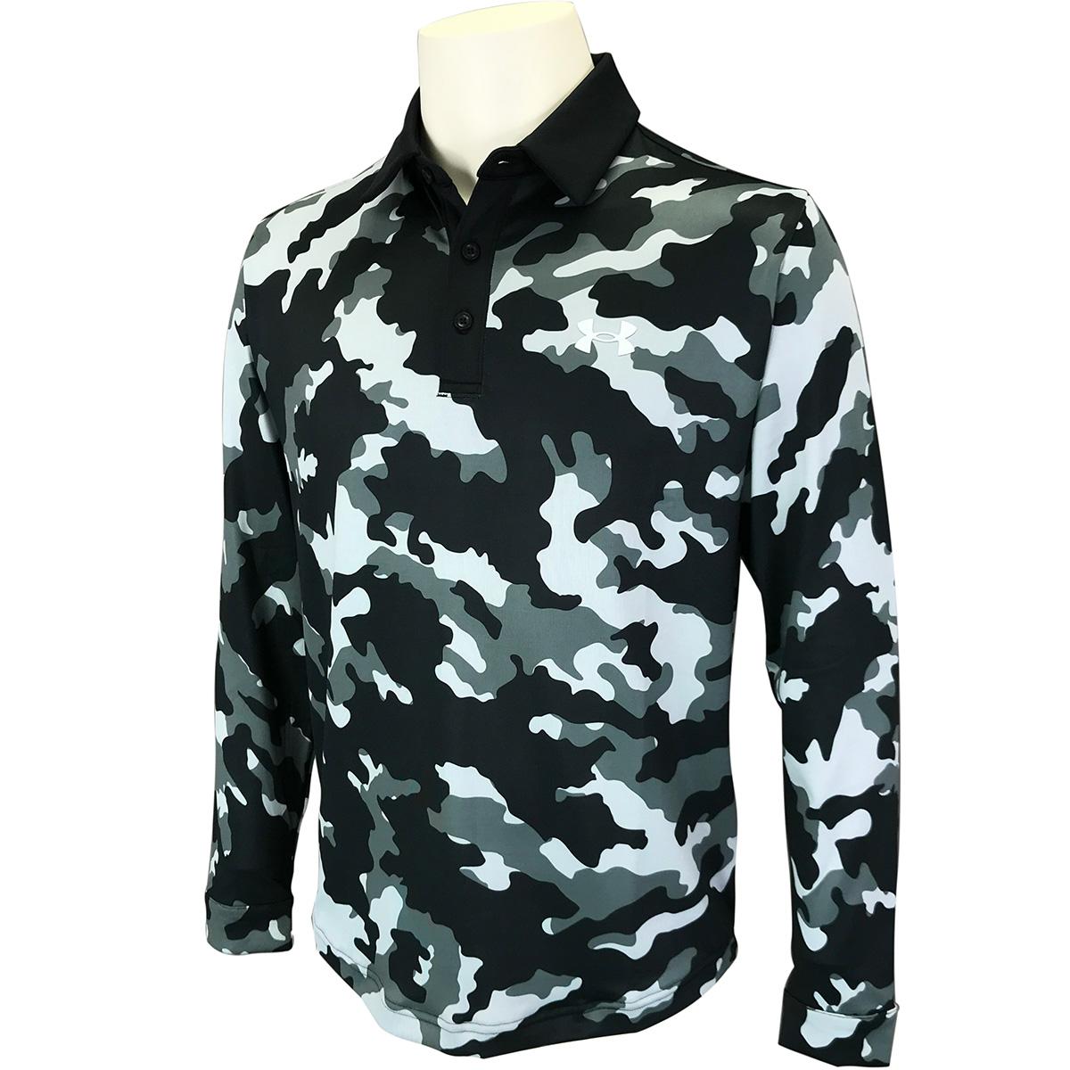 UA プレイオフ2.0 カモ 長袖ポロシャツ