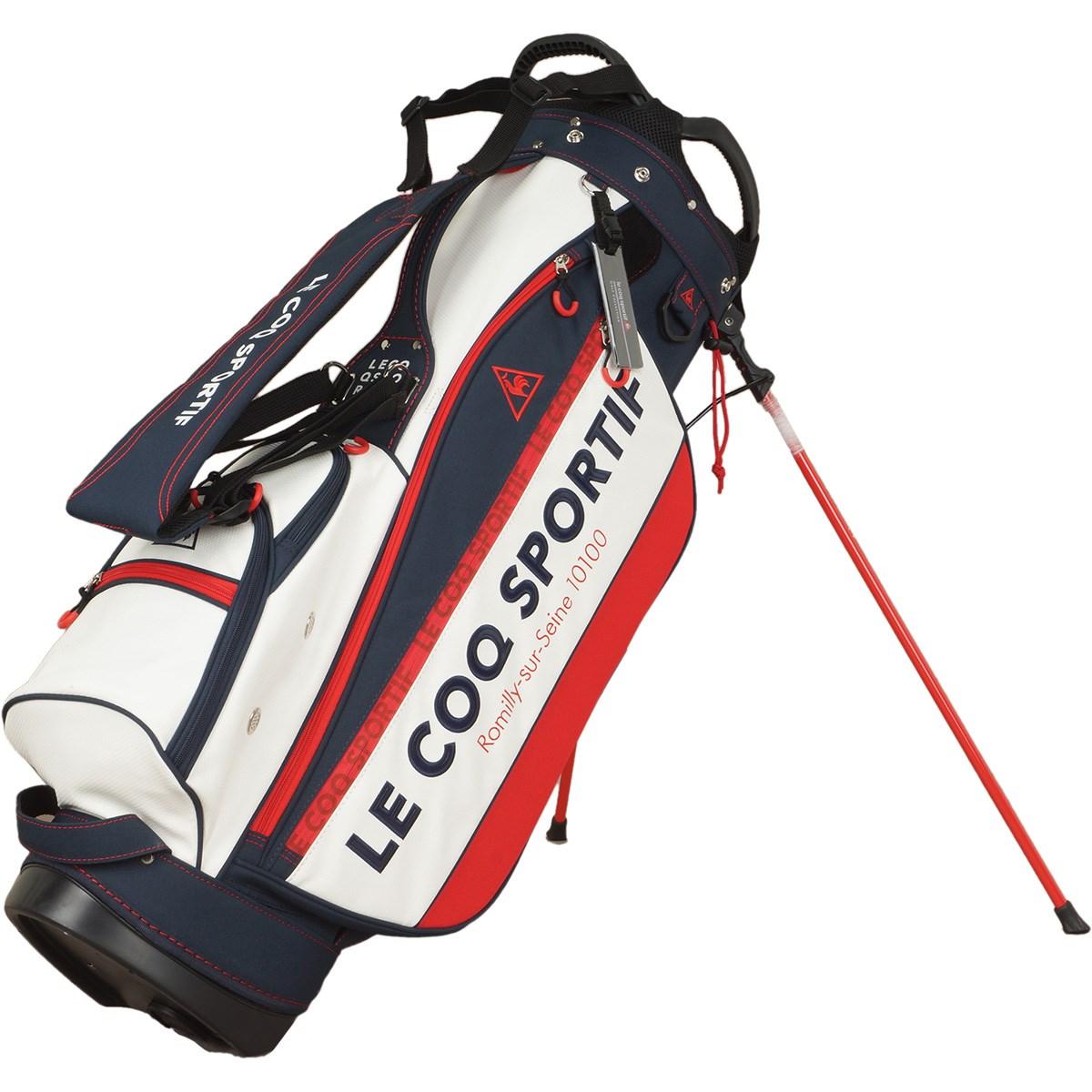 ルコックゴルフ Le coq sportif GOLF スタンドキャディバッグ ホワイト 00