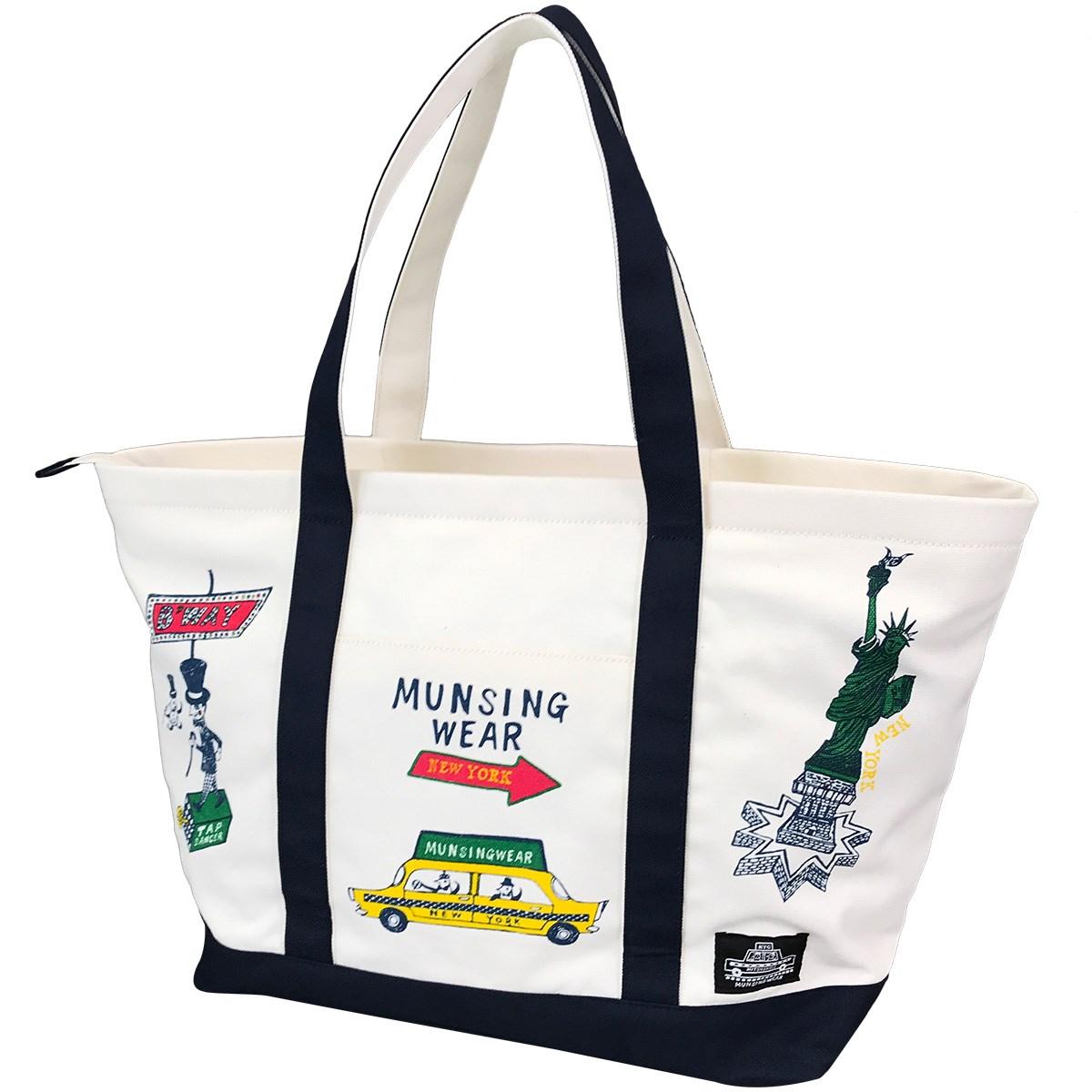 マンシングウェア Munsingwear ボストンバッグ ホワイト 00