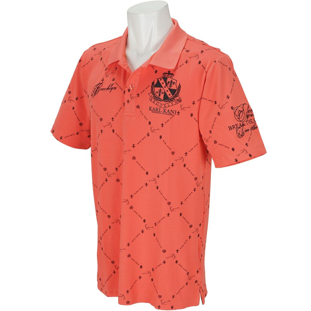 カールカナイゴルフ 接触冷感 ドライ 総柄 半袖ポロシャツ