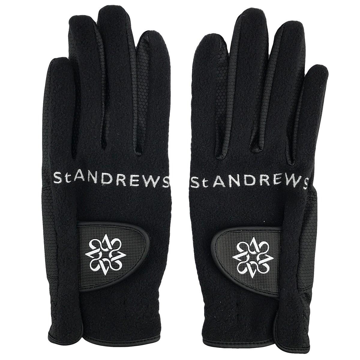 セント・アンドリュース St ANDREWS フリースグローブ 両手用 SS 両手用 ブラック 010