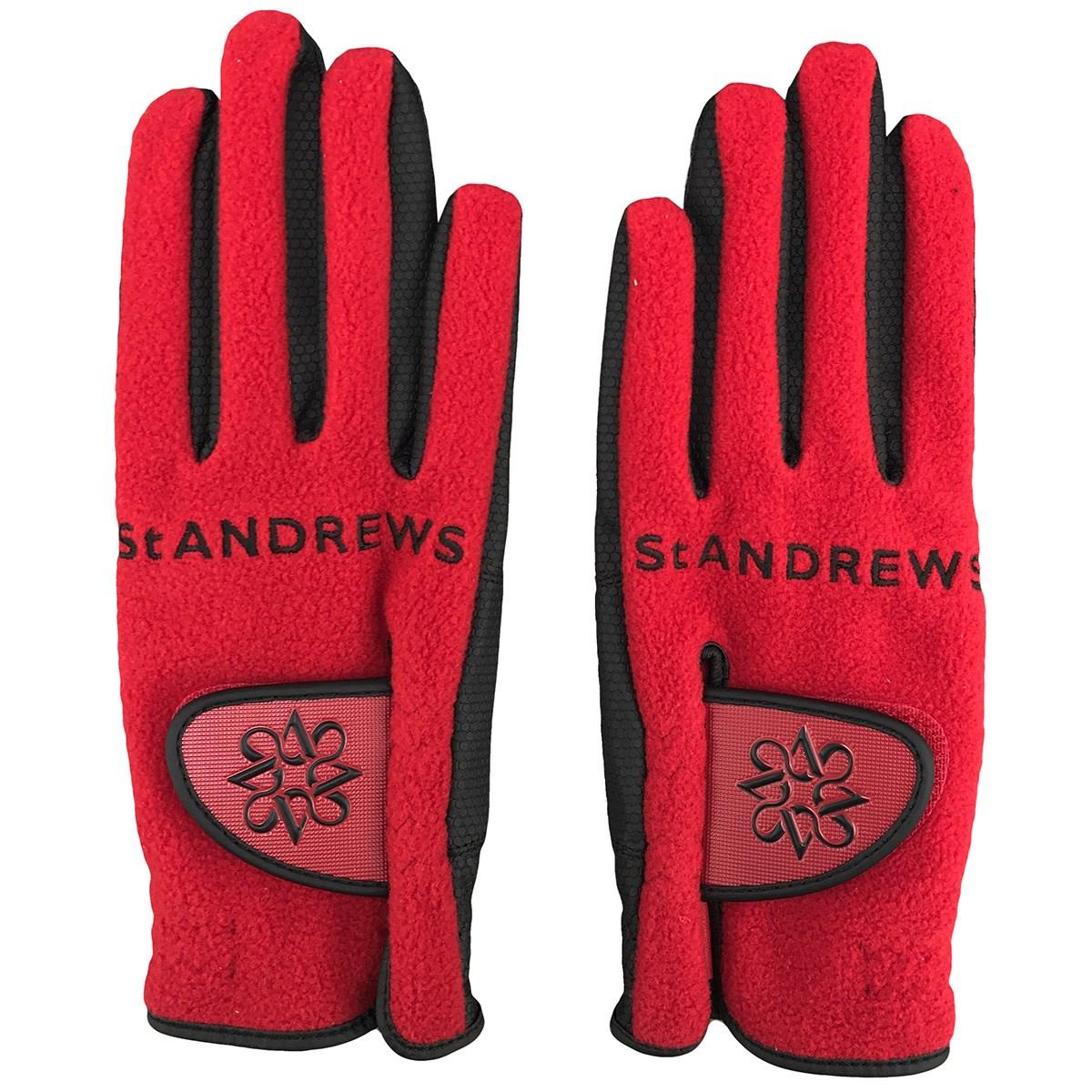 セント・アンドリュース St ANDREWS フリースグローブ 両手用 SS 両手用 レッド 100