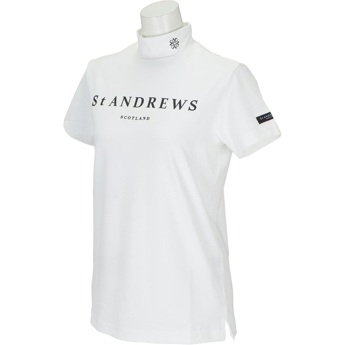 セント・アンドリュース St ANDREWS TWINCOTUV 半袖ハイネックインナーシャツ M ホワイト 030 レディス