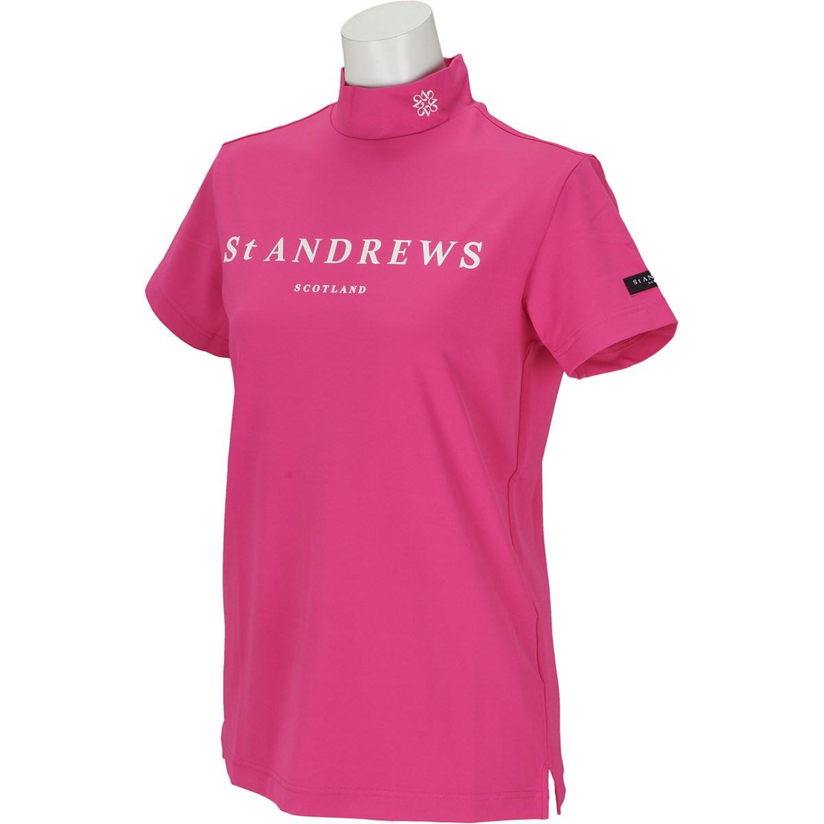 セント・アンドリュース St ANDREWS TWINCOTUV 半袖ハイネックインナーシャツ M ピンク 090 レディス