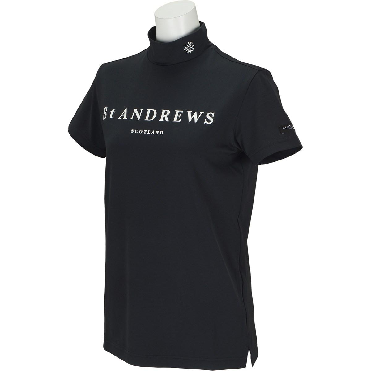 セント・アンドリュース St ANDREWS TWINCOTUV 半袖ハイネックインナーシャツ M ブラック 010 レディス