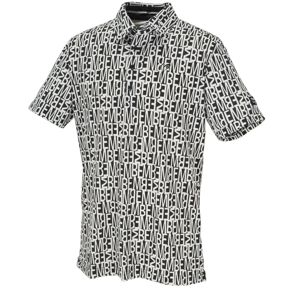 MBEプリント 鹿の子インレイ 半袖ポロシャツ