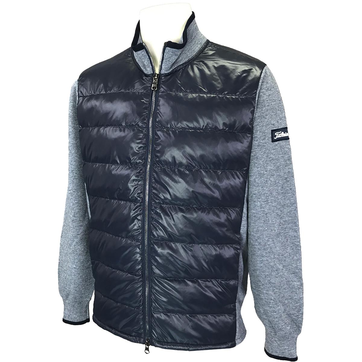 ストレッチ 中綿×ニットジャケット