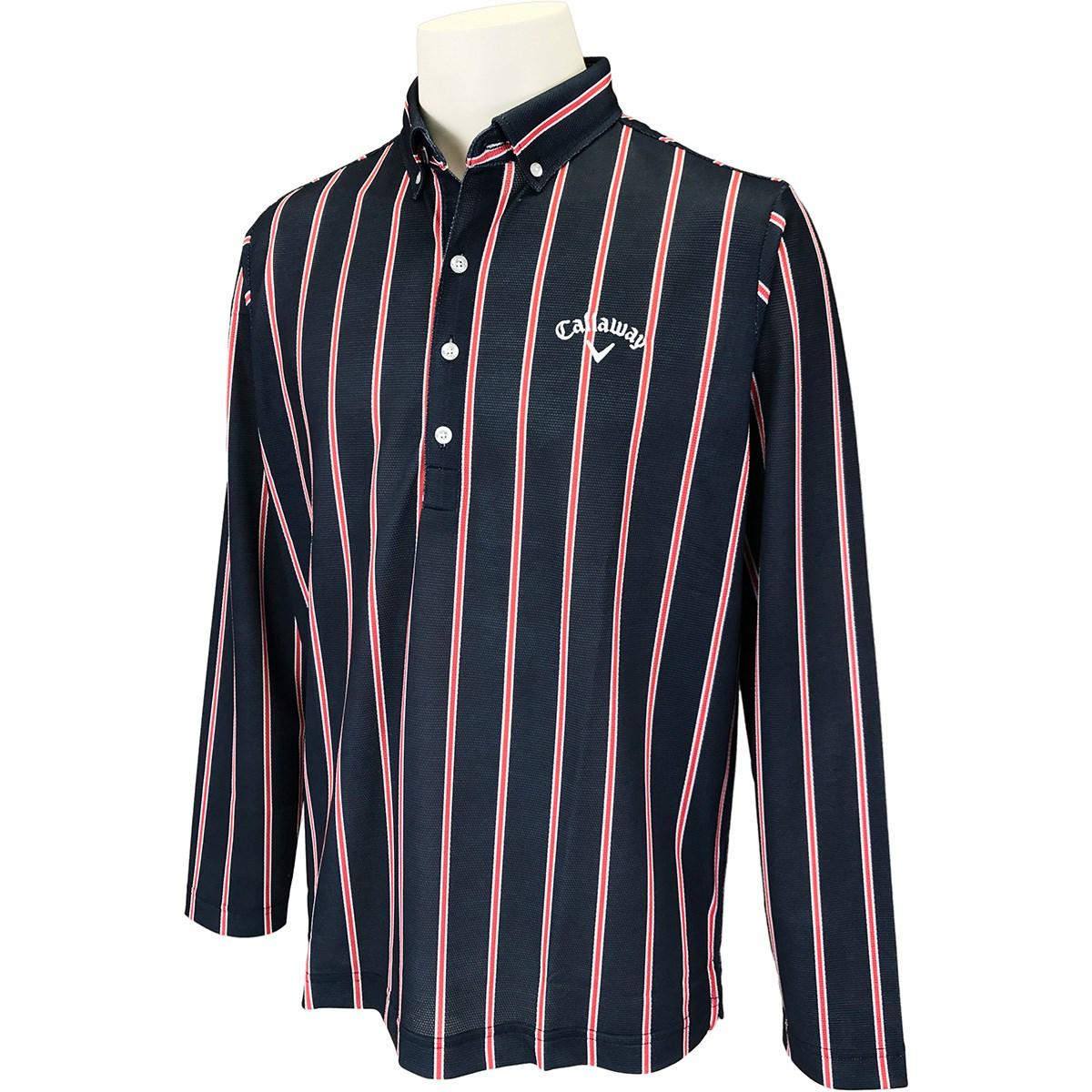 キャロウェイゴルフ(Callaway Golf) レジメンタル ボタンダウンボックス長袖ポロシャツ