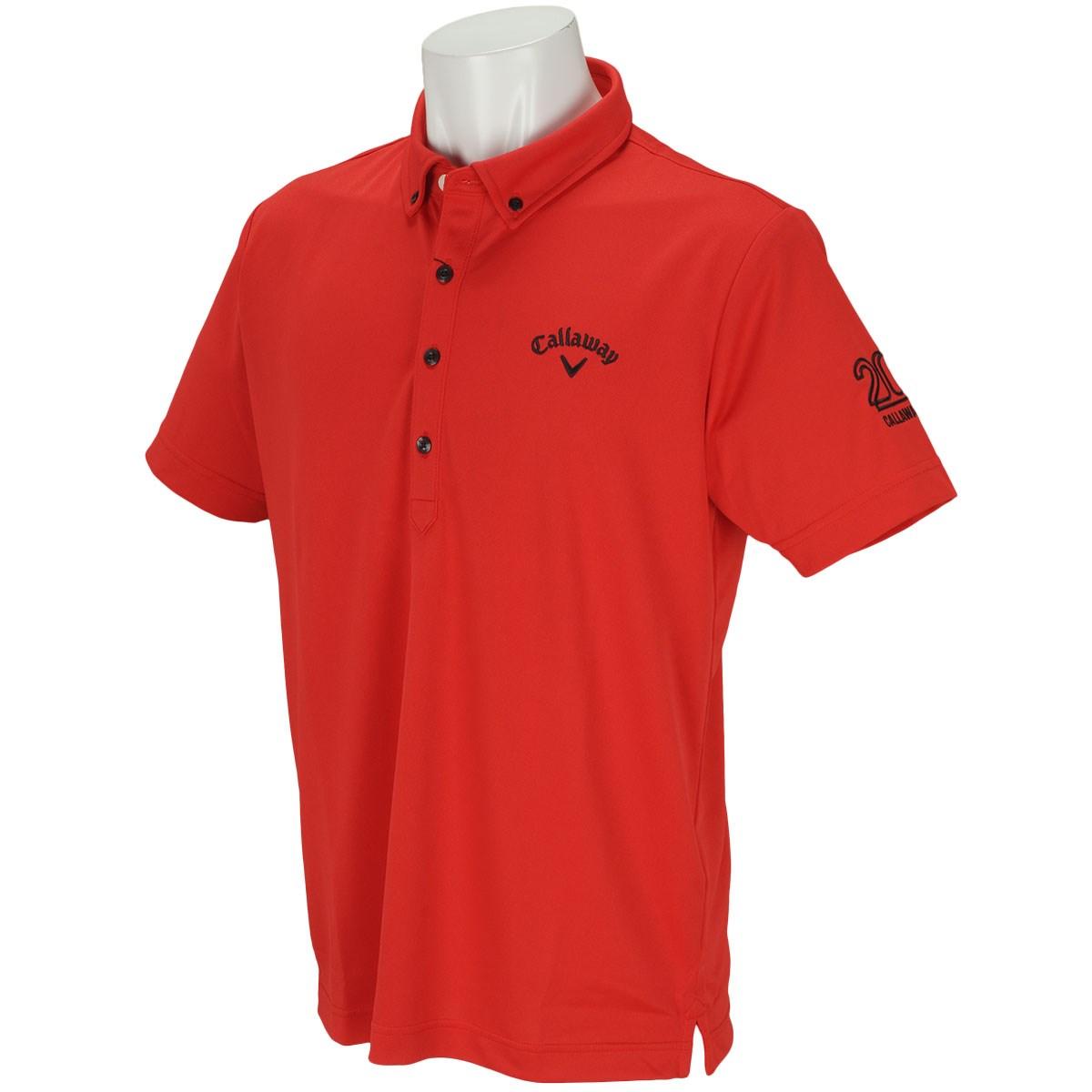 キャロウェイゴルフ Callaway Golf LOTUS MAGIC ボタンダウンボックス半袖ポロシャツ LL レッド 100