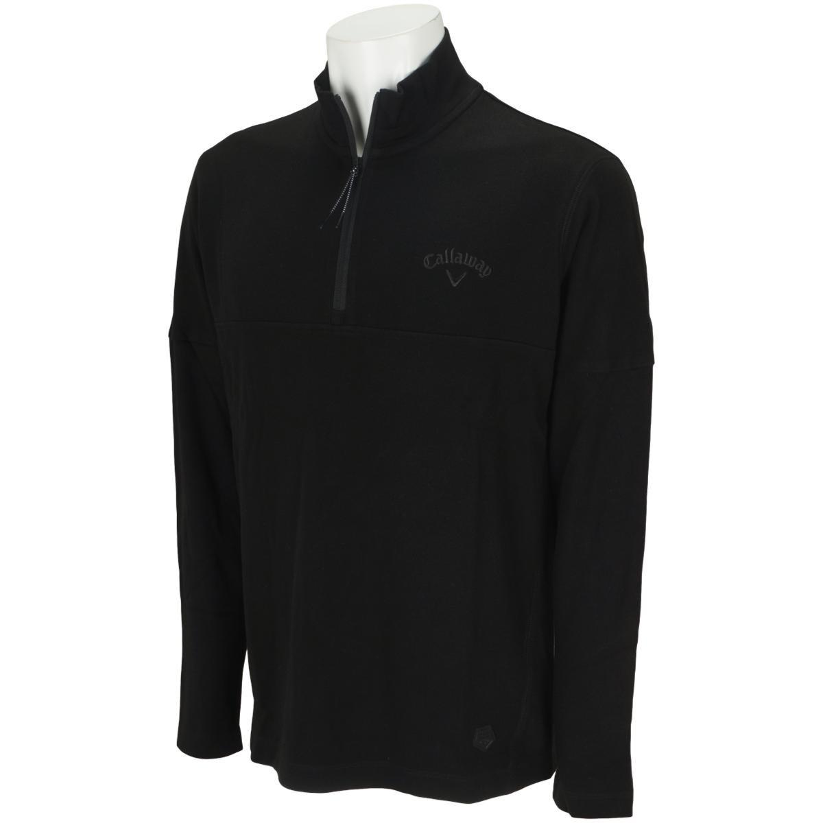 キャロウェイゴルフ Callaway Golf ハーフジップスムースボックス長袖シャツ M ブラック 010