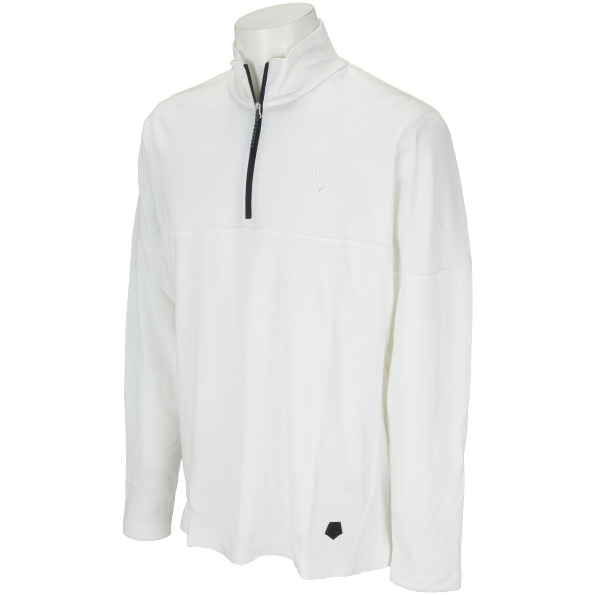 キャロウェイゴルフ Callaway Golf ハーフジップスムースボックス長袖シャツ M ホワイト 030