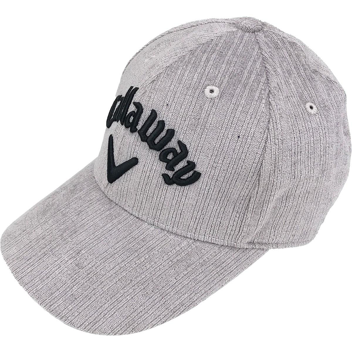 [2020年モデル] キャロウェイゴルフ Callaway Golf ジャガードフリースキャップ JM グレー 020 メンズ ゴルフウェア 帽子