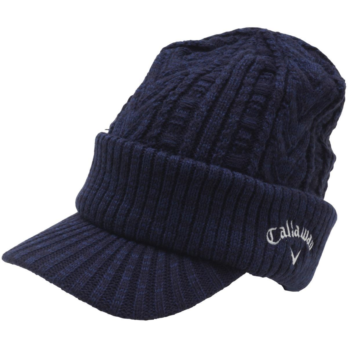 キャロウェイゴルフ Callaway Golf ケーブルニットキャップ JM フリー ネイビー 120
