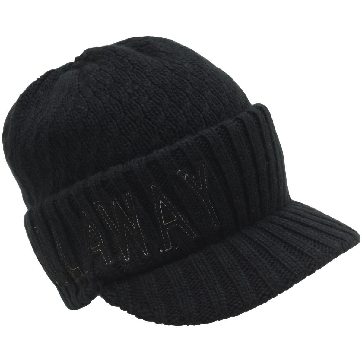 [2020年モデル] キャロウェイゴルフ Callaway Golf ビッグロゴつば付きニットキャップ ブラック 010 メンズ ゴルフウェア 帽子