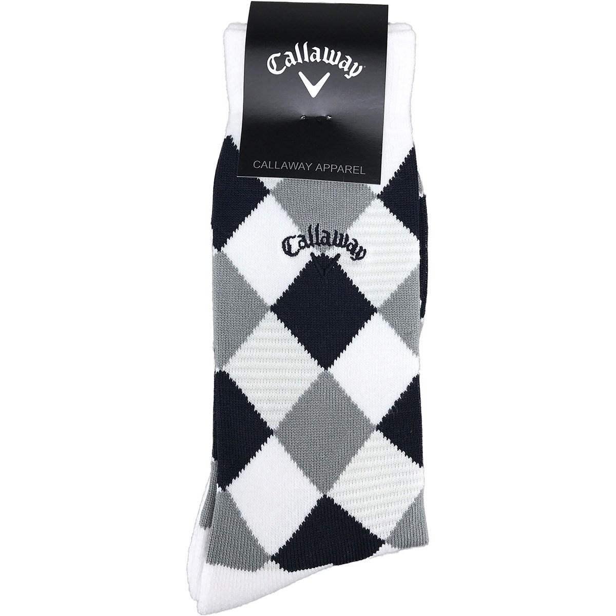 キャロウェイゴルフ Callaway Golf アーガイルクルーソックス フリー ホワイト 030