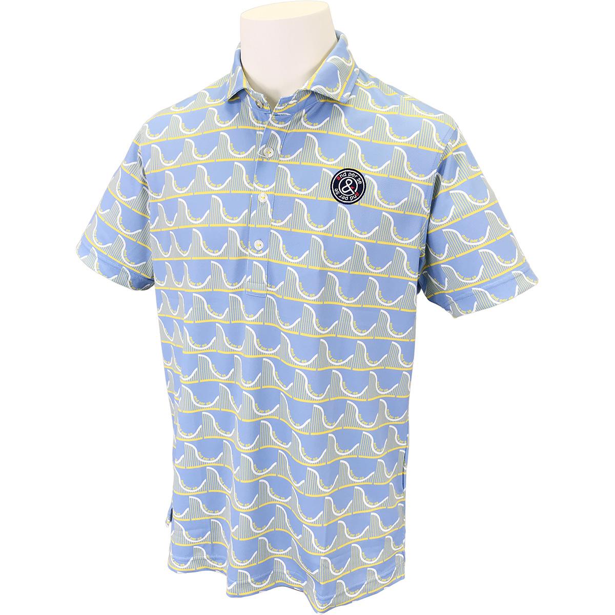プリント半袖ポロシャツ