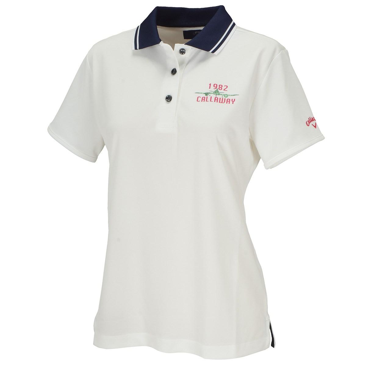 キャロウェイゴルフ Callaway Golf LOTUS MAGIC 半袖ポロシャツ M ホワイト 030 レディス