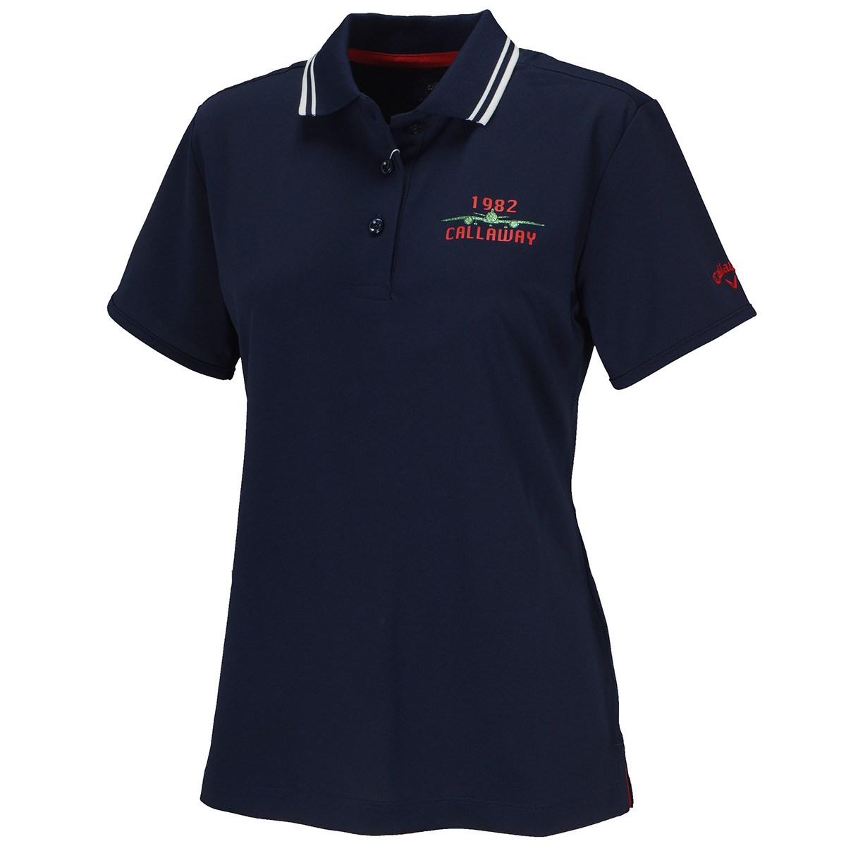 キャロウェイゴルフ Callaway Golf LOTUS MAGIC 半袖ポロシャツ S ネイビー 120 レディス