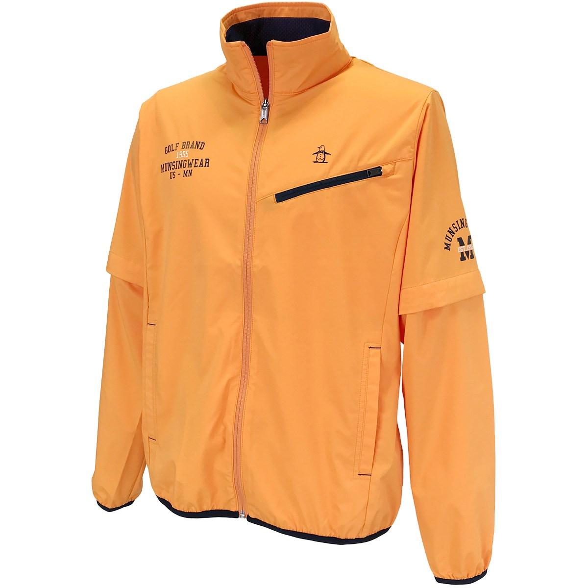 マンシングウェア Munsingwear 2WAYディタッチャブルストレッチブルゾン L オレンジ 00