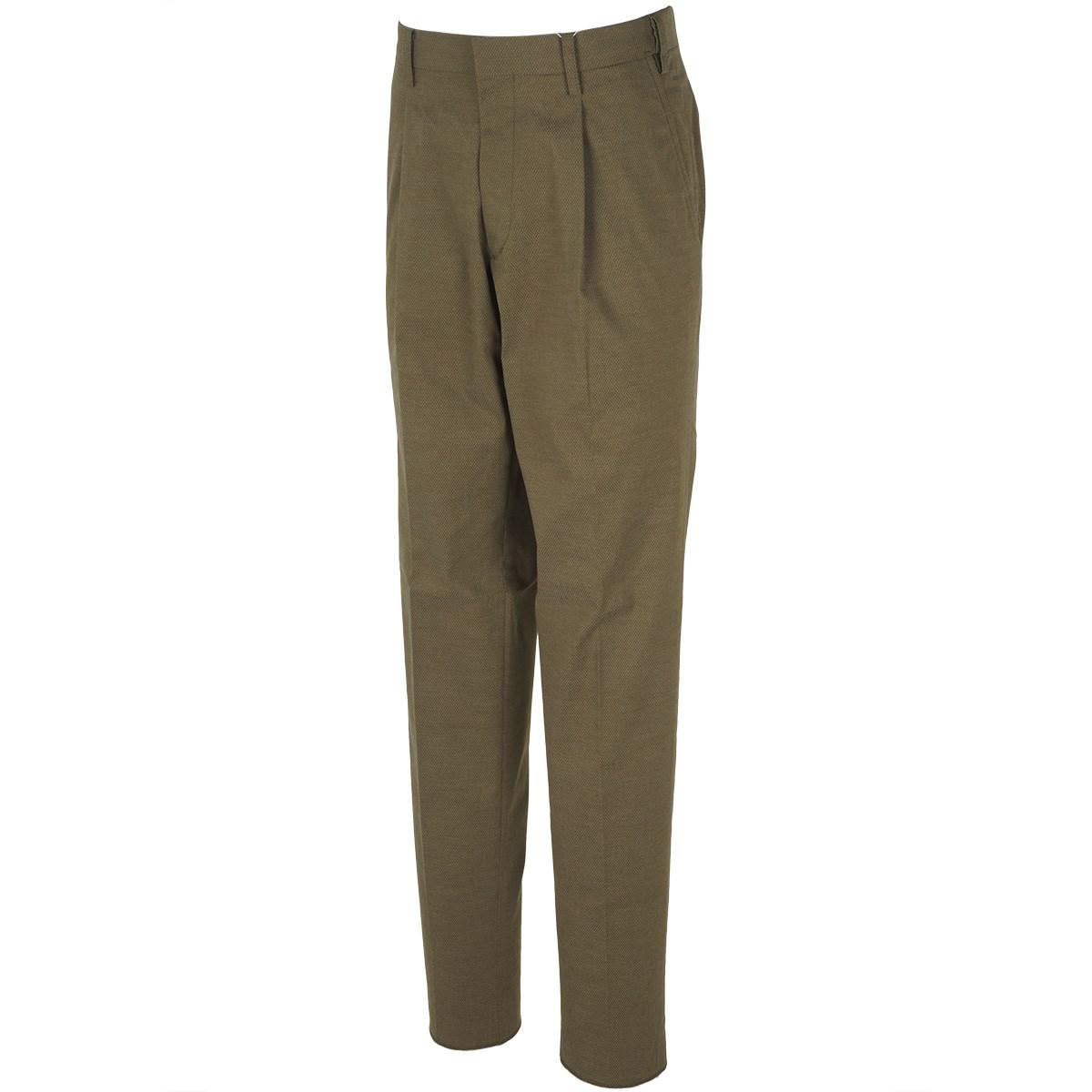 マンシングウェア Munsingwear ワンタック&ウエストフリーストレッチパンツ 79 カーキ 00