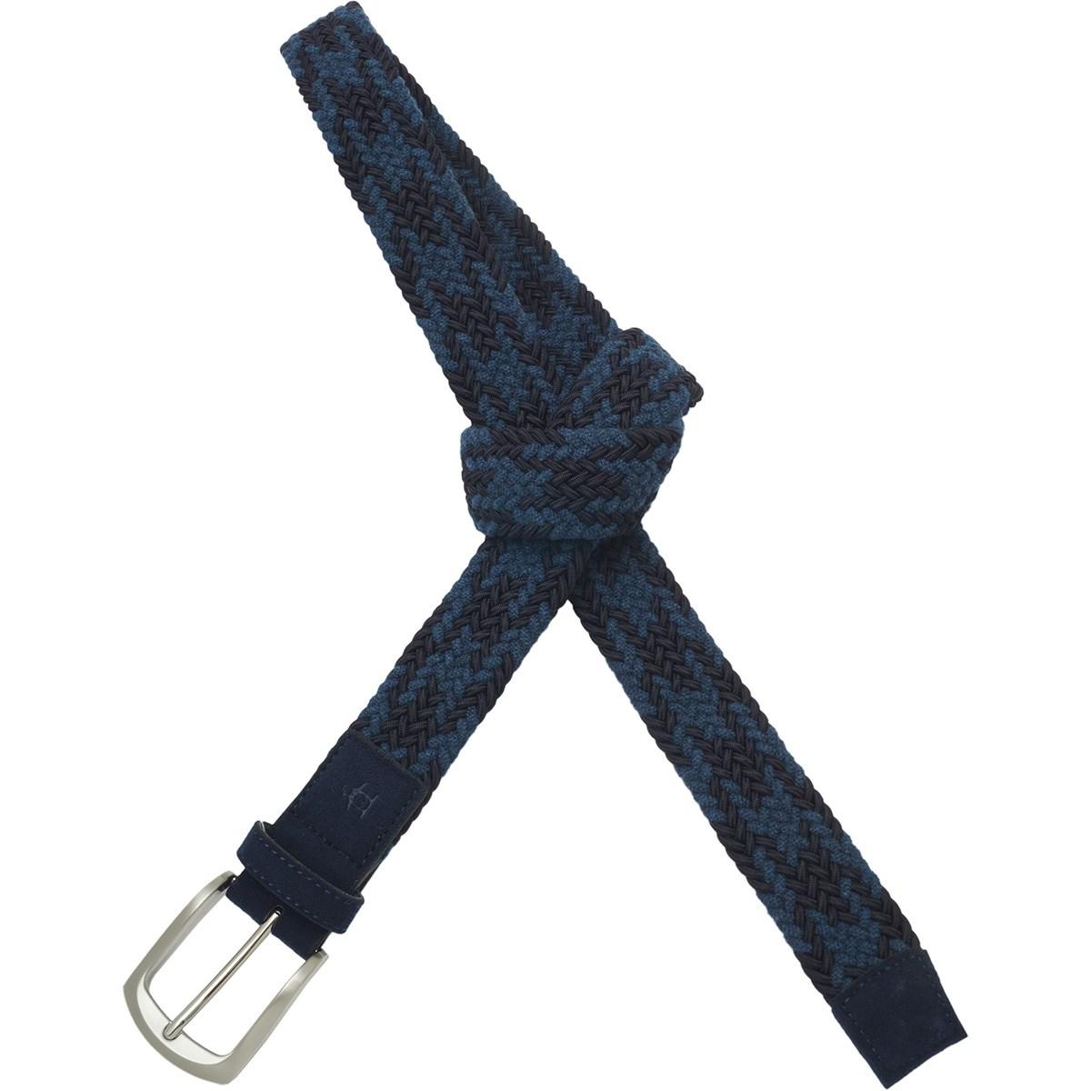 マンシングウェア Munsingwear ゴムメッシュベルト L ネイビー/ブルー