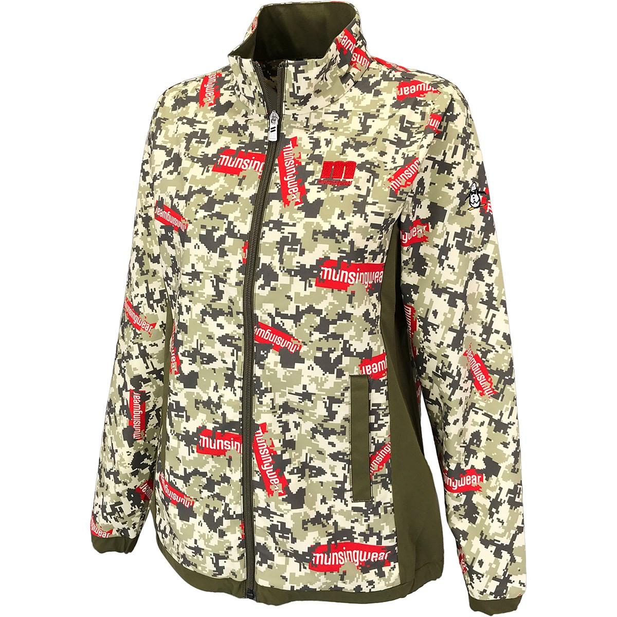 マンシングウェア Munsingwear ENVOY デジカモプリント ストレッチブルゾン L カーキ 00 レディス