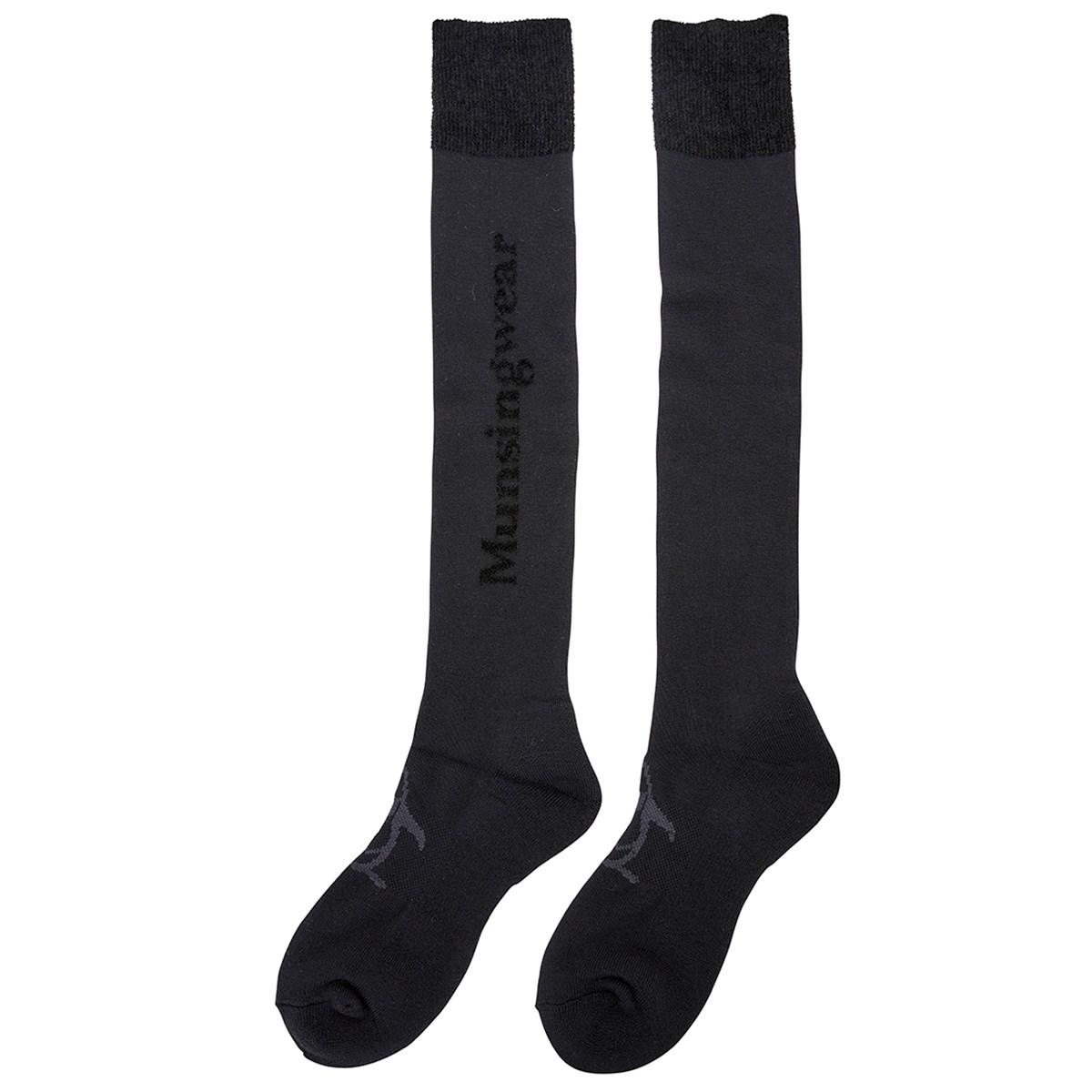 マンシングウェア Munsingwear サイドロゴニーハイソックス フリー ブラック 00 レディス