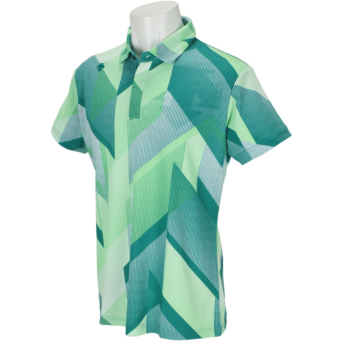 裏鹿の子 KAZEプリント半袖ポロシャツ
