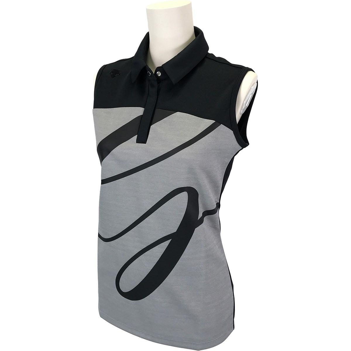 デサントゴルフ DESCENTE GOLF ウォーターブロック鹿の子 ECOスリーブレスポロシャツ S ブラック 00 レディス