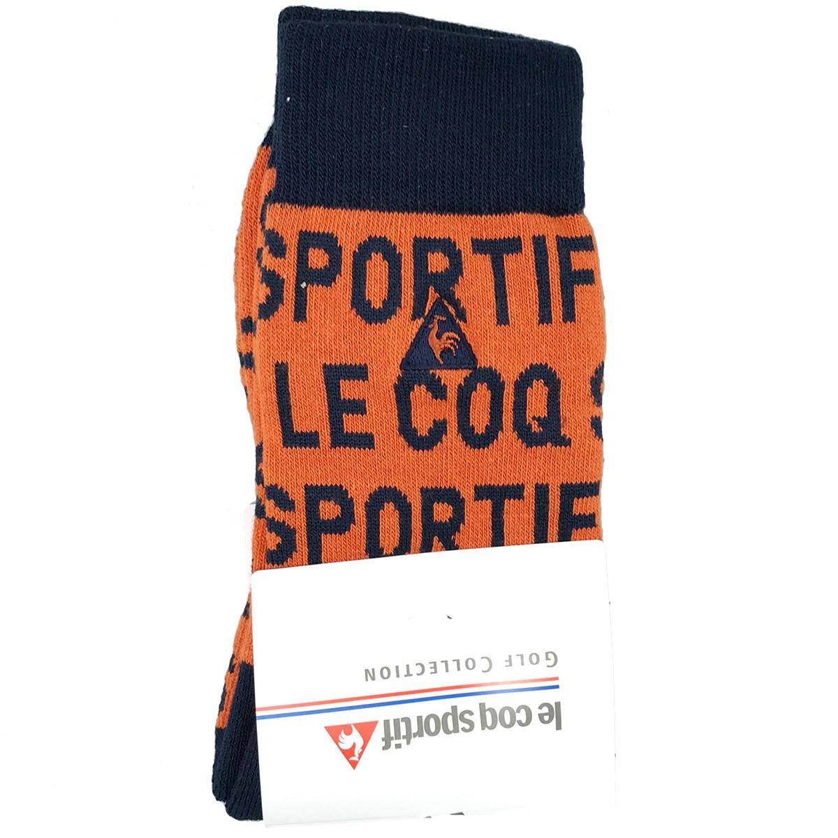 ルコックゴルフ Le coq sportif GOLF ロゴジャカード レギュラーソックス フリー オレンジ 00 レディス