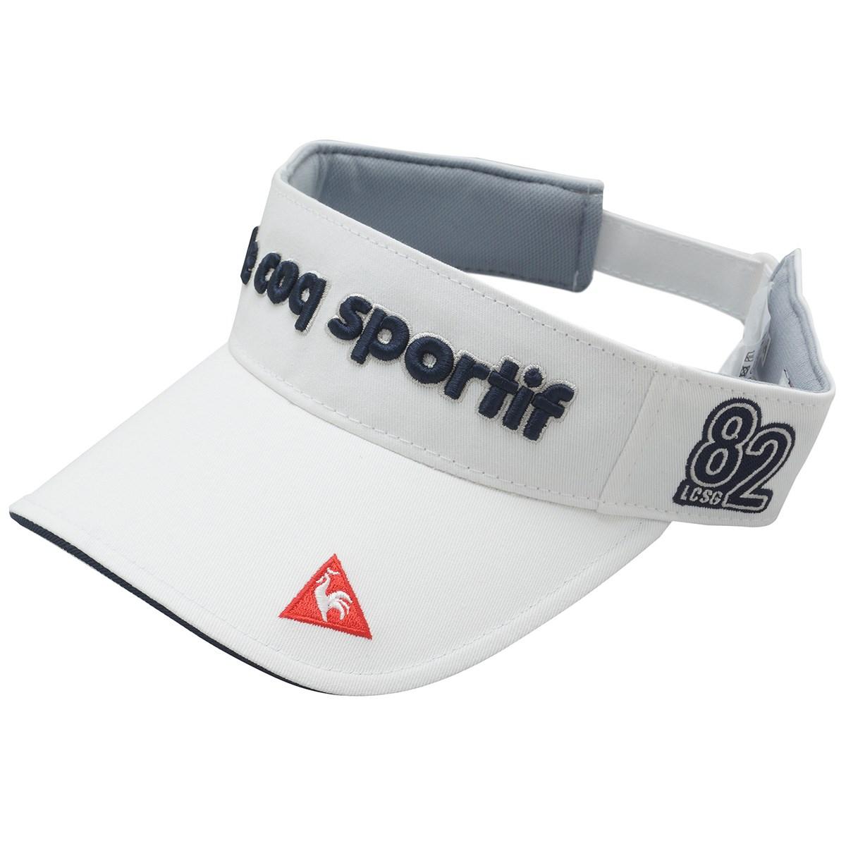 ルコックゴルフ Le coq sportif GOLF コットンツイルサンバイザー フリー ホワイト 00 レディス