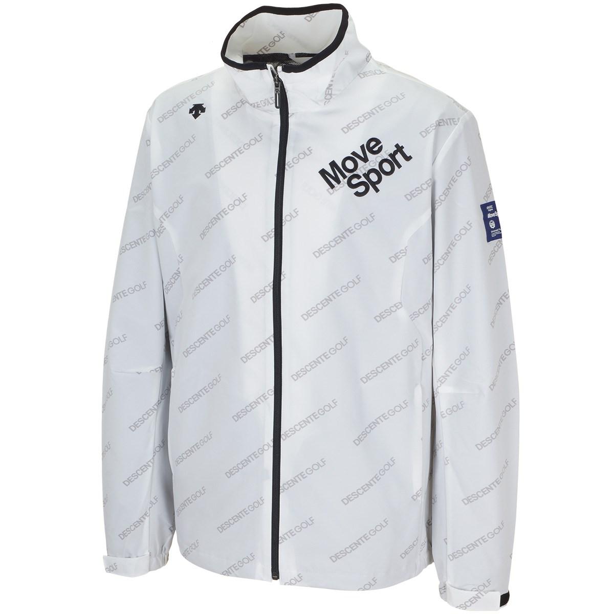 デサントゴルフ DESCENTE GOLF BLUELABEL 4WAYソロストレッチライジングロゴプリントジャケット M ホワイト 00