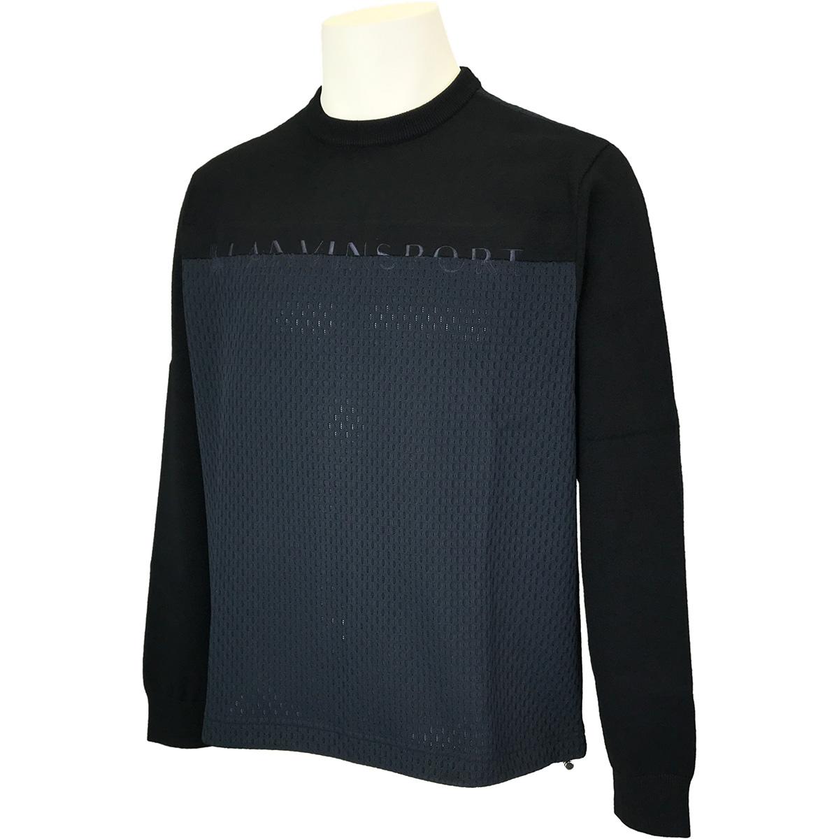 ダブルラッセルクルーネックセーター