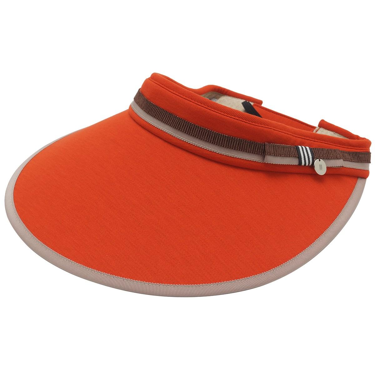 ランバン スポール LANVIN SPORT リボン付きソフトサンバイザー フリー オレンジ 03 レディス