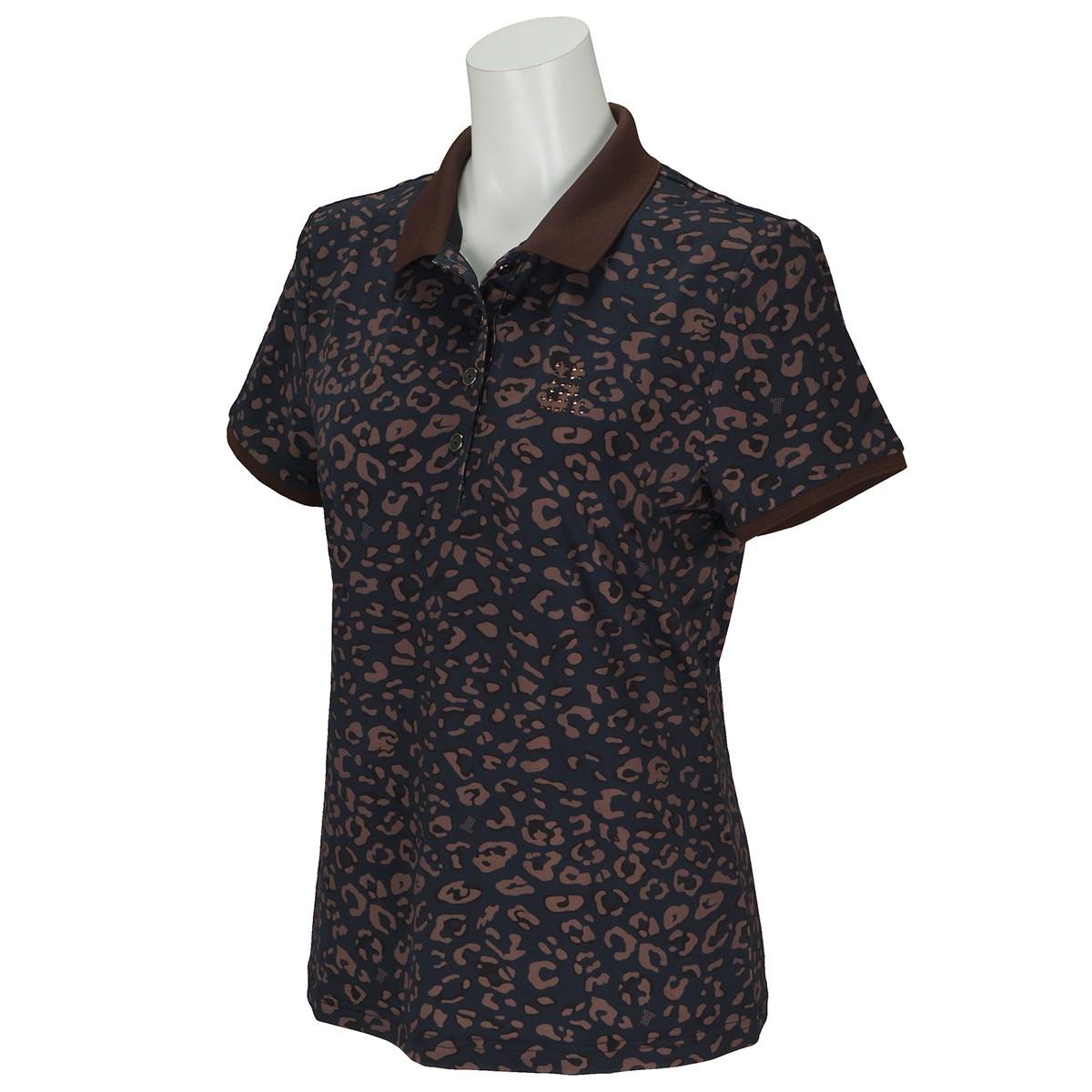 ランバン スポール LANVIN SPORT アニマルプリント半袖ポロシャツ 40 ネイビー 04 レディス