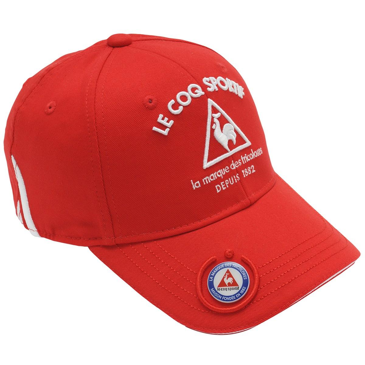 ルコックゴルフ Le coq sportif GOLF コットンツイルマーカー付きキャップ フリー レッド 00 レディス