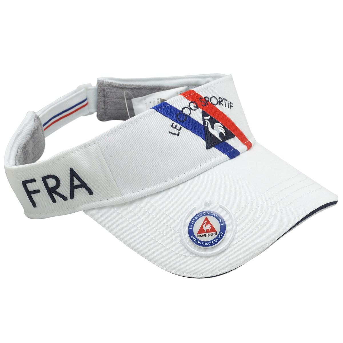ルコックゴルフ Le coq sportif GOLF コットンツイルマーカー付きサンバイザー フリー ホワイト 00 レディス
