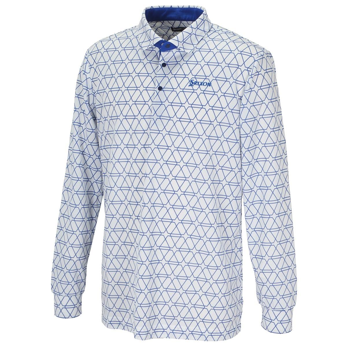スリクソンゴルフ SRIXON クロスライン総柄プリント長袖ポロシャツ 3L ホワイト 00