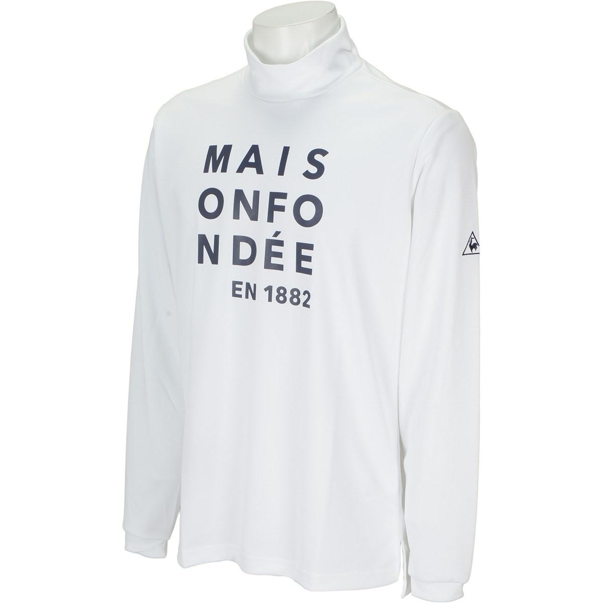 ルコックゴルフ Le coq sportif GOLF ロゴグラフィック長袖シャツ M ホワイト 00