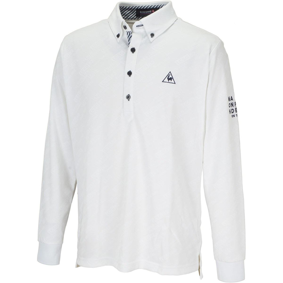 ルコックゴルフ Le coq sportif GOLF グラフィックジャカード長袖ポロシャツ M ホワイト 00