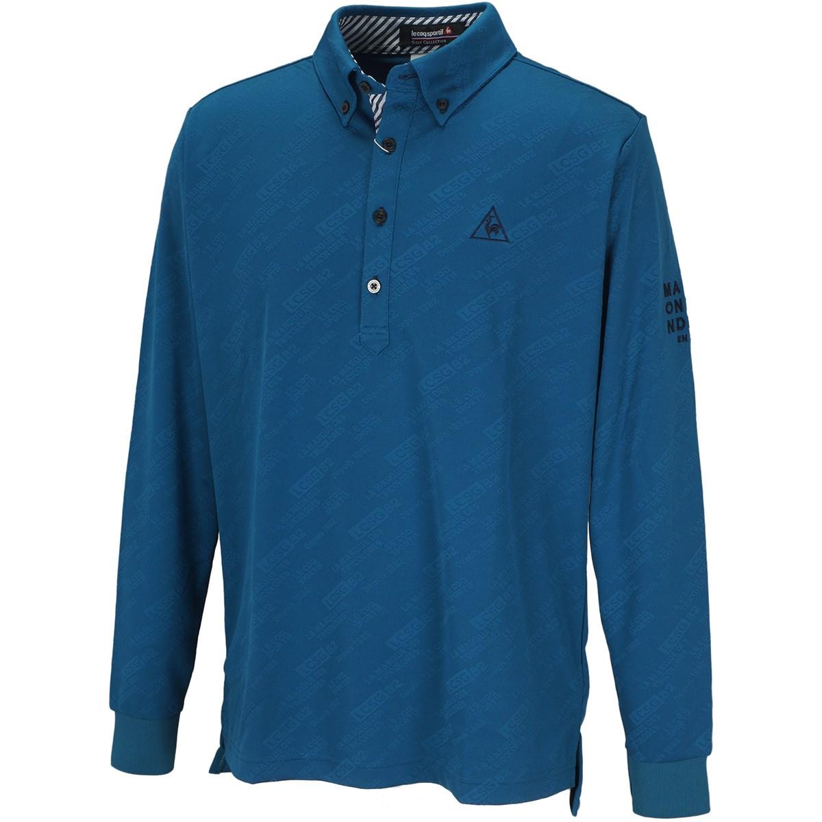 ルコックゴルフ Le coq sportif GOLF グラフィックジャカード長袖ポロシャツ LL ブルー 00