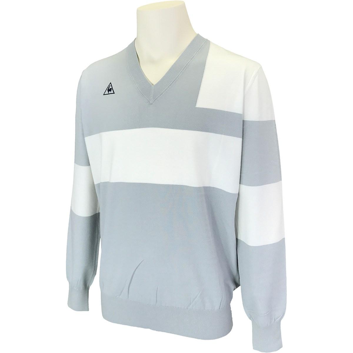 ルコックゴルフ Vネックパネルセーター