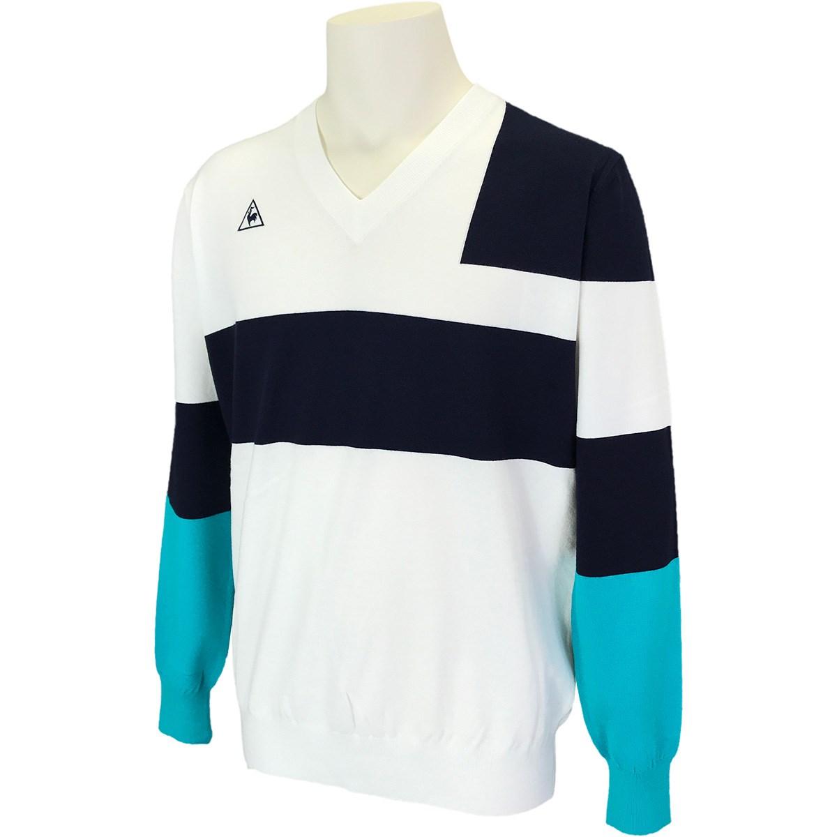 ルコックゴルフ Le coq sportif GOLF Vネックパネルセーター LL ホワイト 00