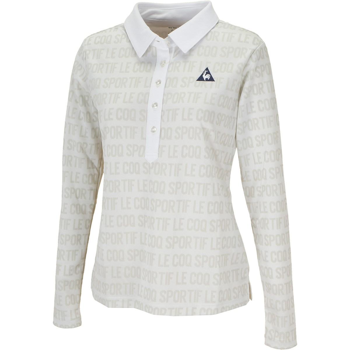ルコックゴルフ Le coq sportif GOLF ロゴジャカード長袖ポロシャツ M ホワイト 00 レディス