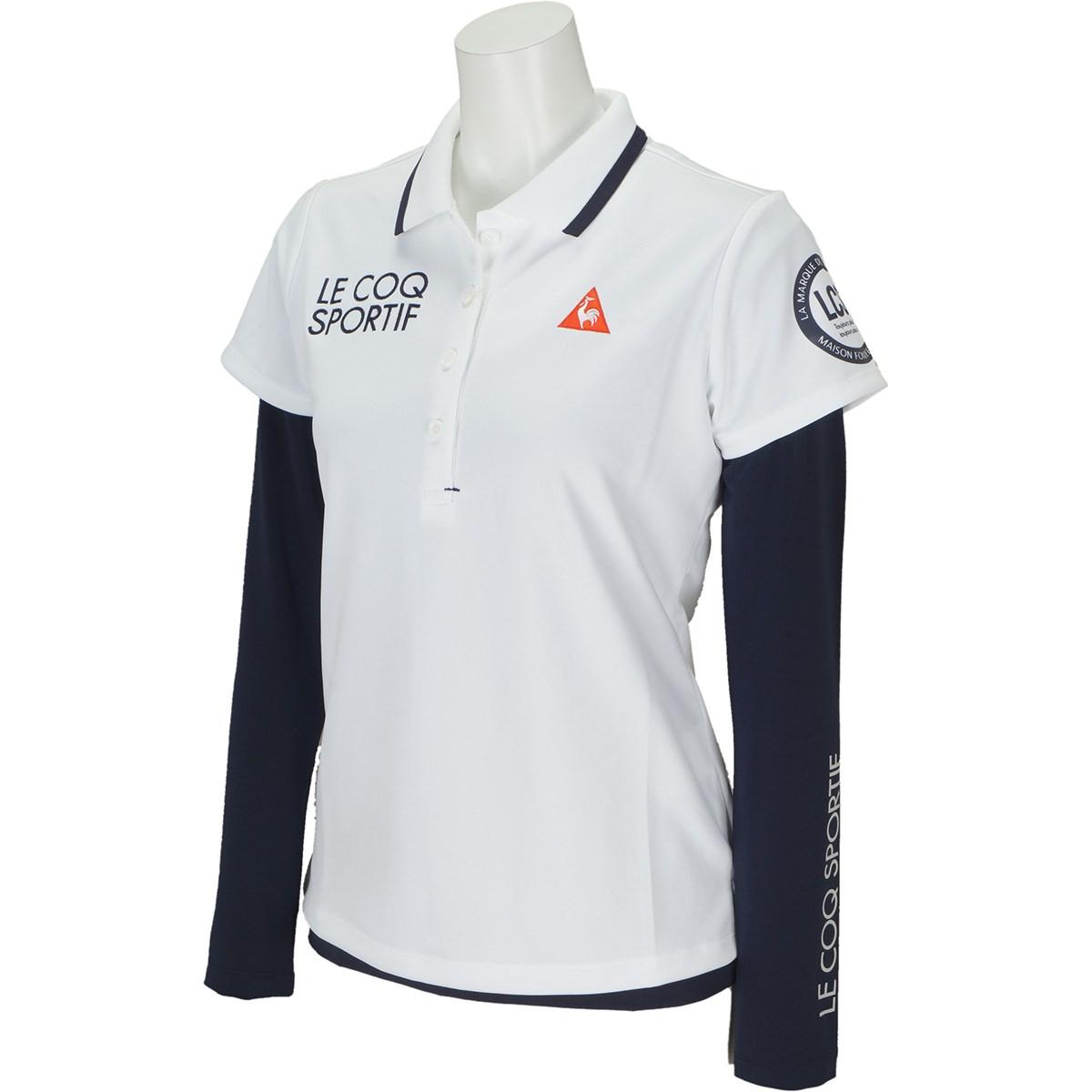 ルコックゴルフ Le coq sportif GOLF ストレッチ 長袖インナーシャツレイヤードセット 半袖ポロシャツ S ホワイト 00 レディス
