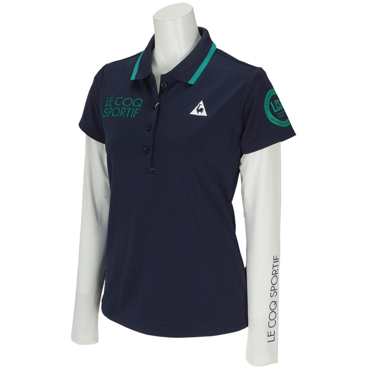 ルコックゴルフ Le coq sportif GOLF ストレッチ 長袖インナーシャツレイヤードセット 半袖ポロシャツ S ネイビー 00 レディス
