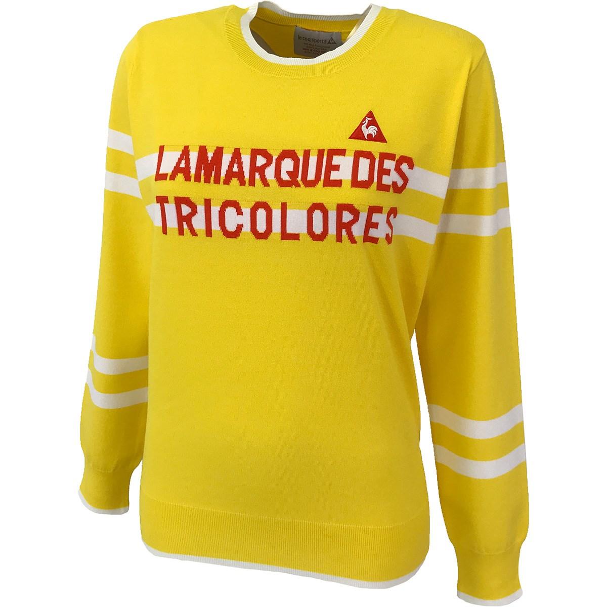ルコックゴルフ Le coq sportif GOLF クルーネックセーター S イエロー 00 レディス