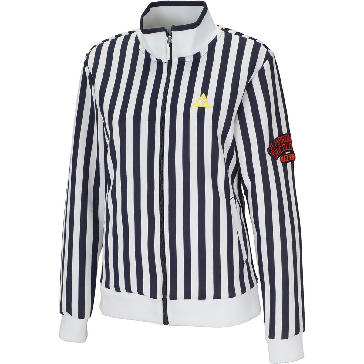 ルコックゴルフ Le coq sportif GOLF ストライプ柄 フルジップ長袖シャツ S ネイビー 00 レディス